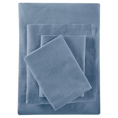 Solid Flannel Sheet Set (Queen)Blue