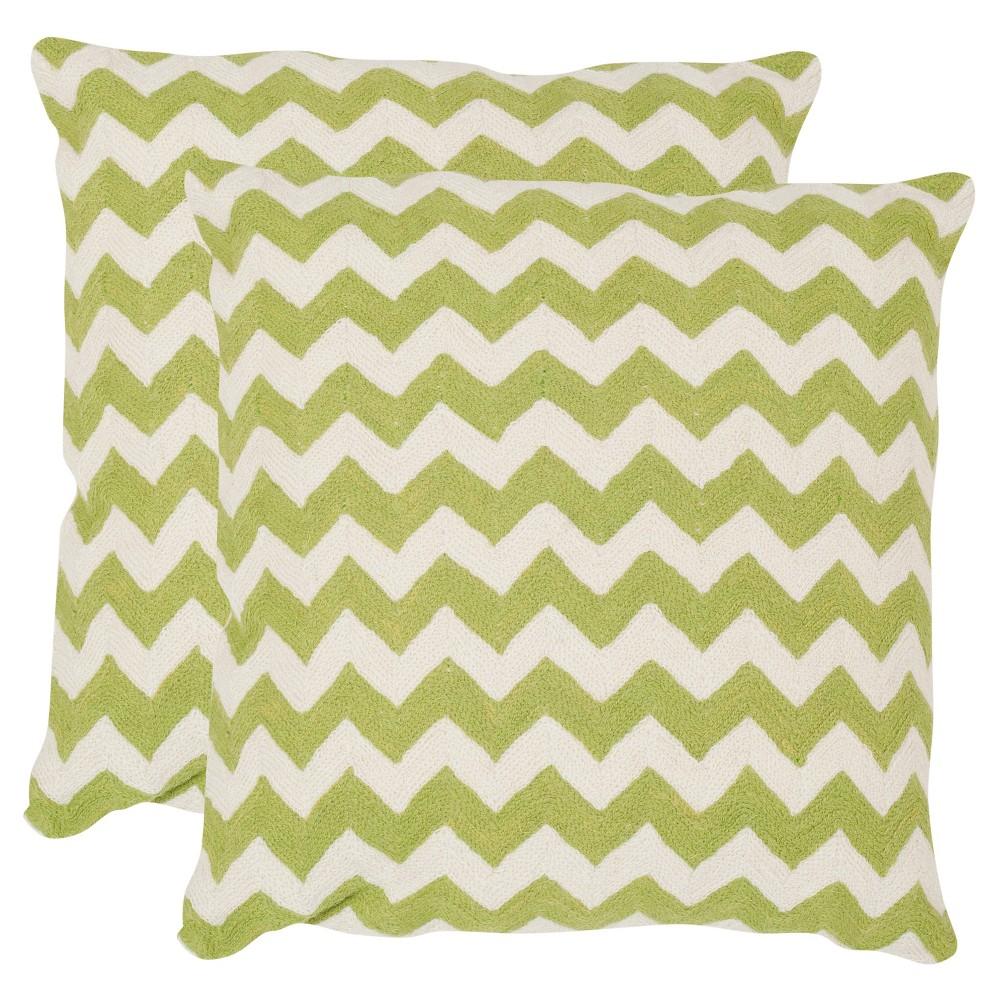 Lime Set Throw Pillow (22