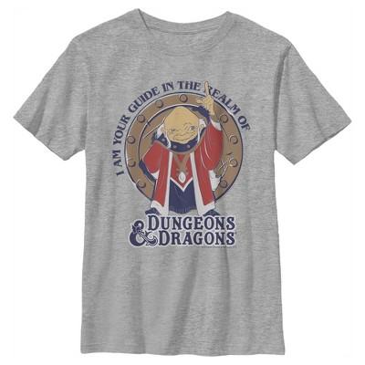 Boy's Dungeons & Dragons Dungeon Master Guide Cartoon T-Shirt