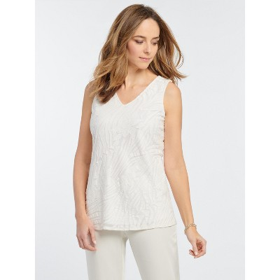 NIC+ZOE Women's Make Waves Tank White Multi