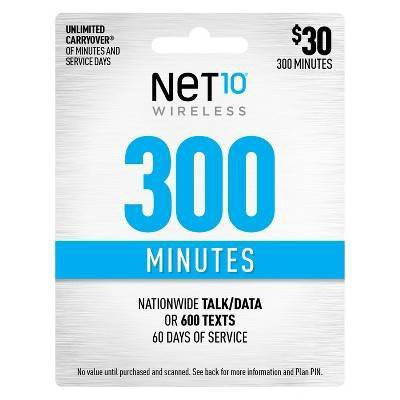 Net10 Wireless Add-On Minutes Prepaid Card (Email Delivery)