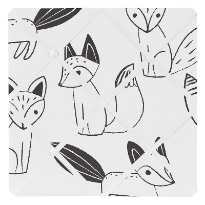 Black and White Fox Photo Memo Board (13x13)- Sweet Jojo Designs