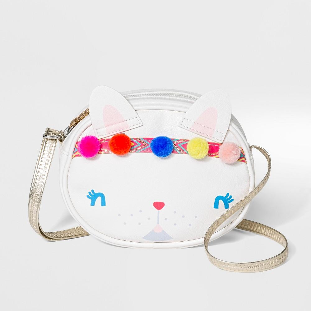Girls' Target Cat Crossbody Bag - Cat & Jack White, Black