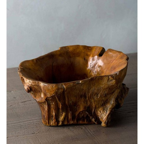 Medium Hand Crafted Teak Root Of The Earth Bowl - Vivaterra - image 1 of 1