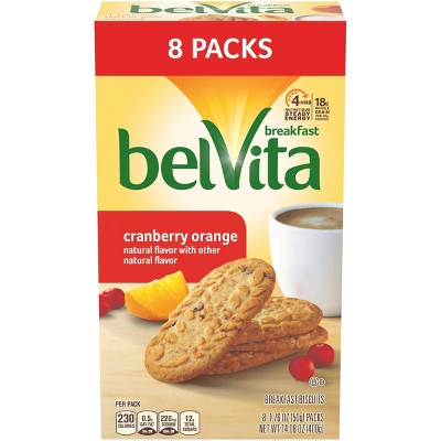 belVita Cranberry Orange Breakfast Biscuits 8 packs