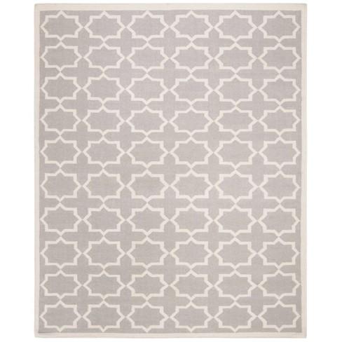 Aklim Dhurry Rug - Grey/Ivory - (10'x14') - Safavieh - image 1 of 3