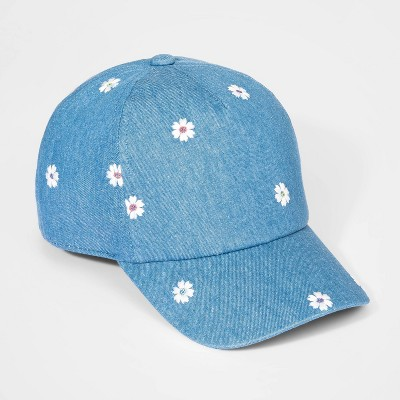 Girls' Denim Baseball Hat - Cat & Jack™ One Size
