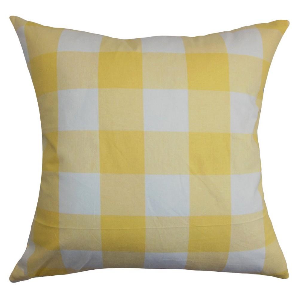 Buffalo Check Throw Pillow Yellow (18