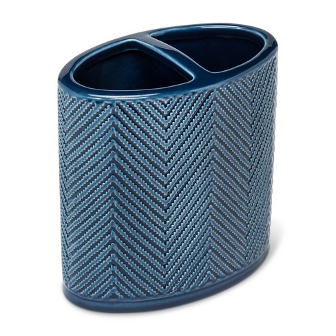 Ceramic Toothbrush Holder Blue - Threshold™ - image 1 of 1