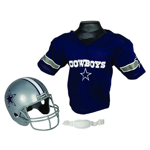 info for e29f4 1ca39 Dallas Cowboys Franklin Sports Helmet/Jersey Set - Ages 5-9