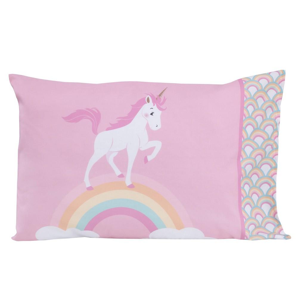 Image of NoJo 4pc Little Tikes Rainbows & Unicorns Toddler Bedding Set