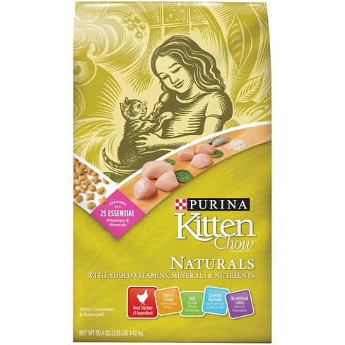 Purina Kitten Chow Naturals With Chicken Complete & Balanced Dry Cat Food - image 1 of 4