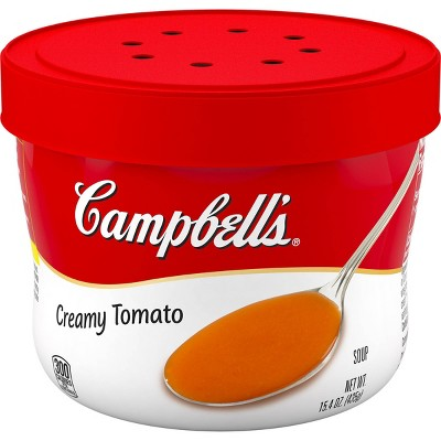 Campbell's Creamy Tomato Soup Microwaveable Bowl - 15.4oz