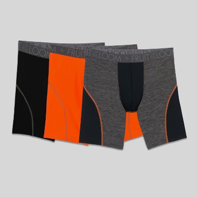 Fruit of the Loom Select Men's Breathable Performance Long Leg Boxer Briefs 3pk