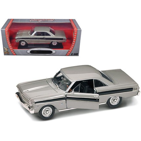 1964 Ford Falcon Diecast Car Model 1/18 Grey Die Cast Car by Road Signature - image 1 of 1