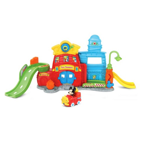 VTech Go! Go! Smart Wheels Mickey Mouse Silly Slides Fire Station - image 1 of 8