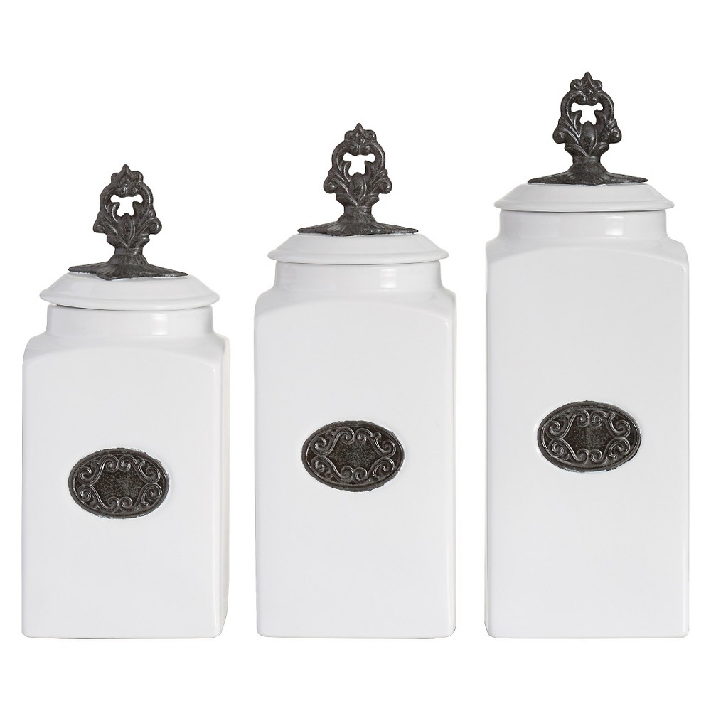 American Atelier Lina 3-pc. Canister Set - White