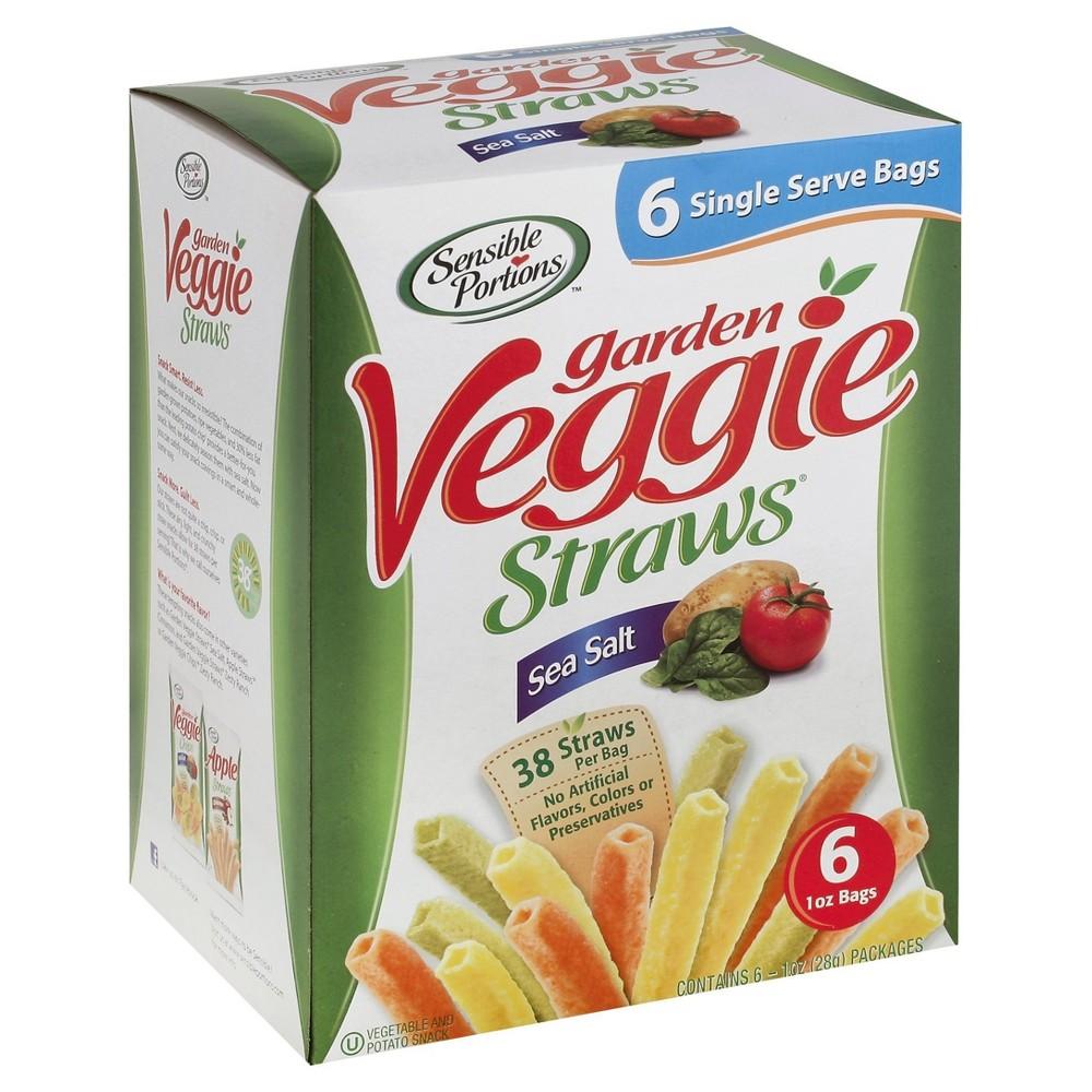 Sensible Portions Garden Veggie Straws Sea Salt 6ct