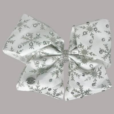 Girls' Nickelodeon JoJo Siwa Glitter Snowflakes Bow Hair Clip - White