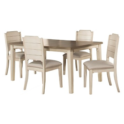 5pc Clarion Rectangle Extendable Dining Table with Side Chairs Sea White - Hillsdale Furniture