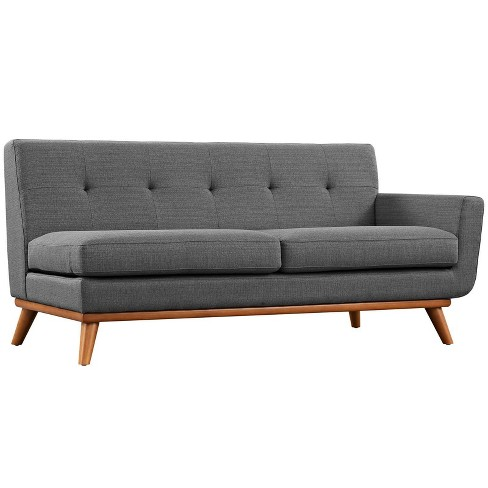 Engage RightArm Upholstered Loveseat Gray - Modway - image 1 of 4