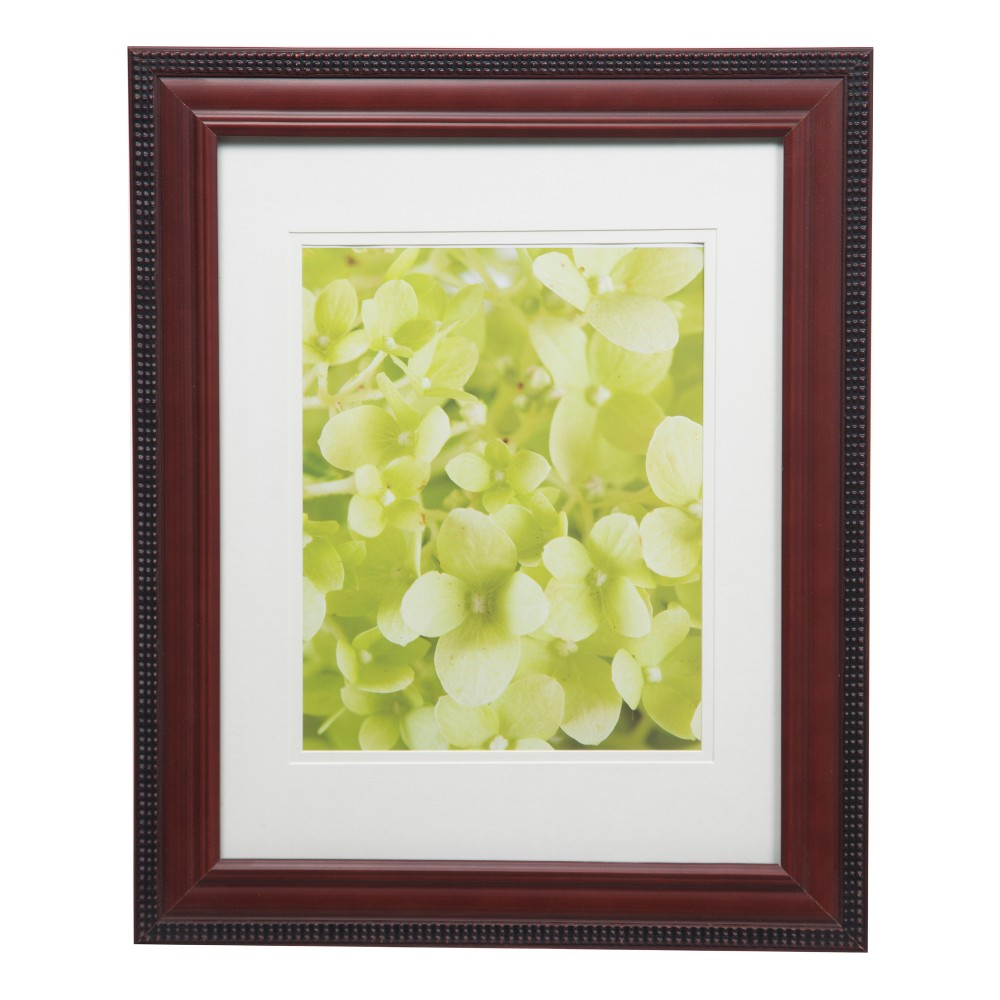 Single Image 11X14 To 8X10 Mohogany Outer Bead Frame - Gallery Solutions, Brown