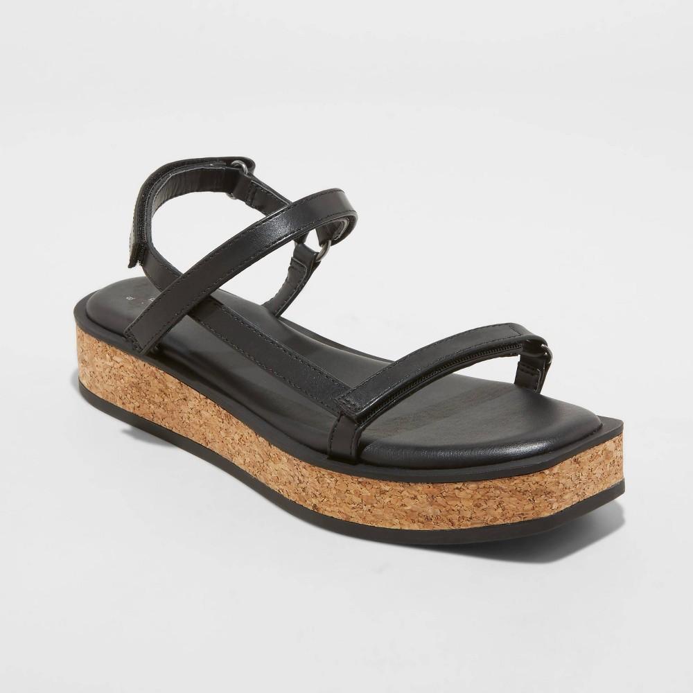 Women 39 S Nova Sporty Cork Platform Sandals A New Day 8482 Black 9 5