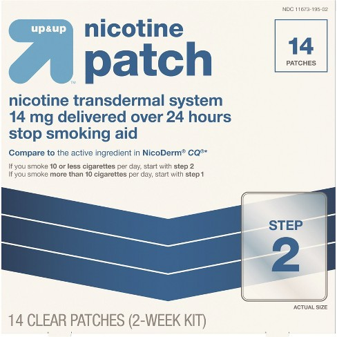 Nicotine Stop Smoking Aid Clear Patches Step 2 - 14ct - Up&Up™ (Compare to the active ingredient in NicoDerm CQ) - image 1 of 4
