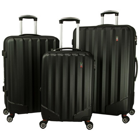 Villagio Radiance 3pc Hardside Spinner Luggage Set - Black - image 1 of 7