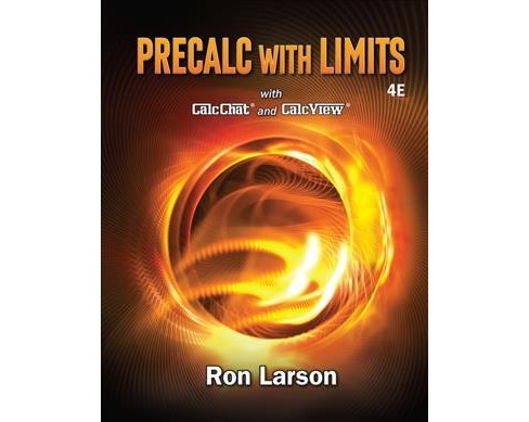 Precalc with Limits with CalcChat and CalcView (Hardcover) (Ron Larson) - image 1 of 1