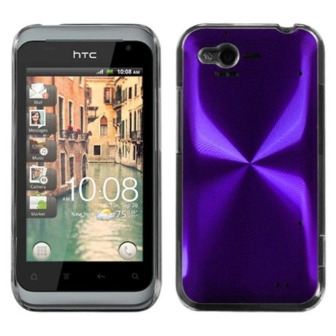 MYBAT For HTC Rhyme / Bliss Purple Clear Cosmo Aluminum Hard Metallic Case - image 1 of 3