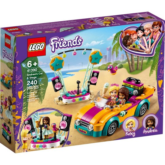 LEGO Friends Andrea's Car and Stage Playset 41390 Building Kit image number null