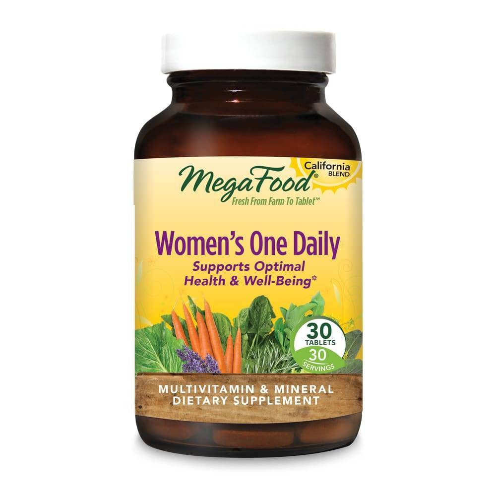 MegaFood Women's One Daily Multivitamin Tablets - 30ct MegaFood Women's One Daily California Blend is a convenient, once-daily multivitamin that nourishes the whole body. Gender: Female. Age Group: Adult.