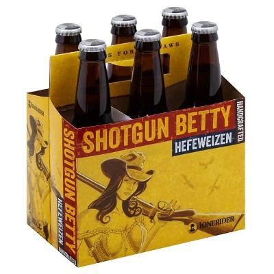 Lonerider Shotgun Better Hefeweizen Beer - 6pk/12 fl oz Bottles