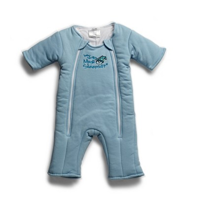 Baby Merlin's Magic Sleepsuit Swaddle Wrap 3-6 months - Cotton Blue