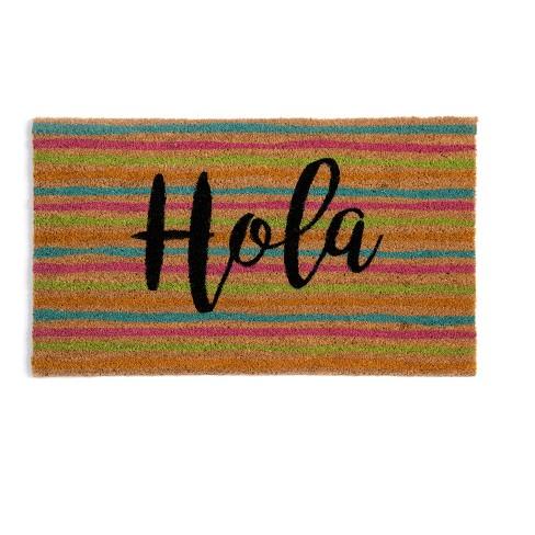 """HOLA"" DOORMAT  - Multicolored - Shiraleah - image 1 of 1"