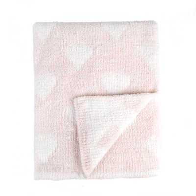 Tadpoles Ultra-Soft Chenille Knit Baby Blanket - Blush/White