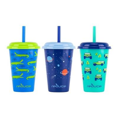 Reduce 12oz 3pk Plastic Go-Go's Exploration Station Kids Tumblers