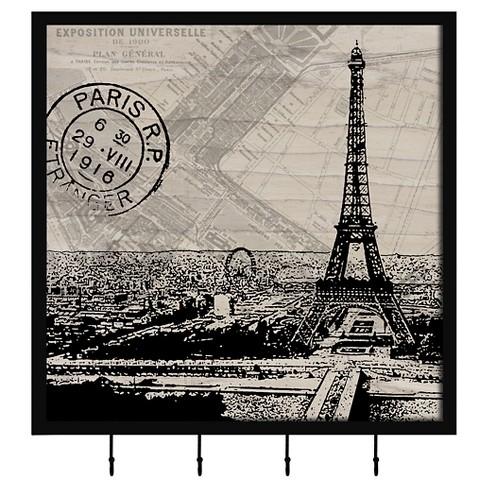 Vintage Paris Decorative Box With Metal Hooks - image 1 of 1