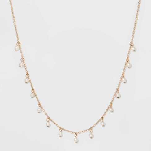 Delicate Necklace - A New Day™ Pearl/Gold - image 1 of 3