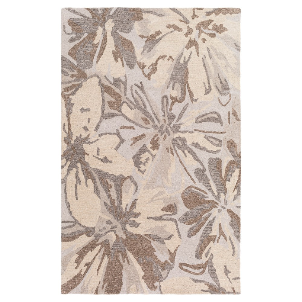 Amaranthus Area Rug - Light Gray, Khaki - (9' x 12') - Surya