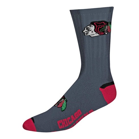 NHL Chicago Blackhawks Big Time Primary Crew Socks - M - image 1 of 1