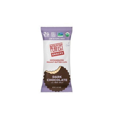 Perfect Snacks Dark Chocolate Sea Salt Peanut Butter Cups - 2ct/1.4oz