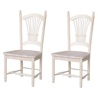 Set Of 2 Sheafback Chair Unfinished - International Concepts