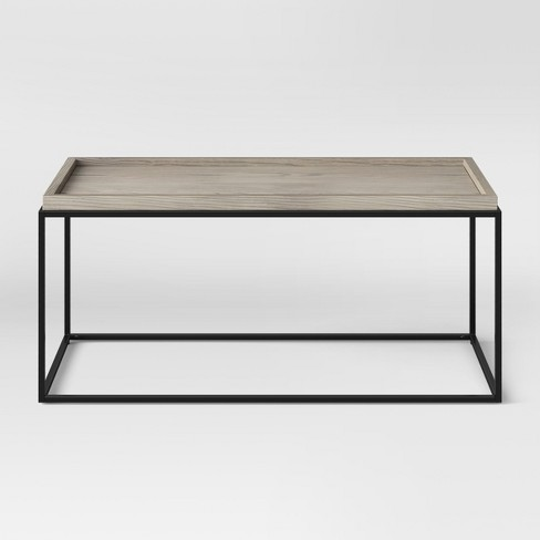 Material Coffee Table.Bennington Mixed Material Coffee Table Threshold