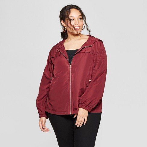 a71e4c7c055 Women s Plus Size Windbreaker Jacket - Ava   Viv™   Target