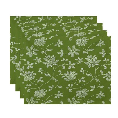 4pk Placemats Amber Green - e by design