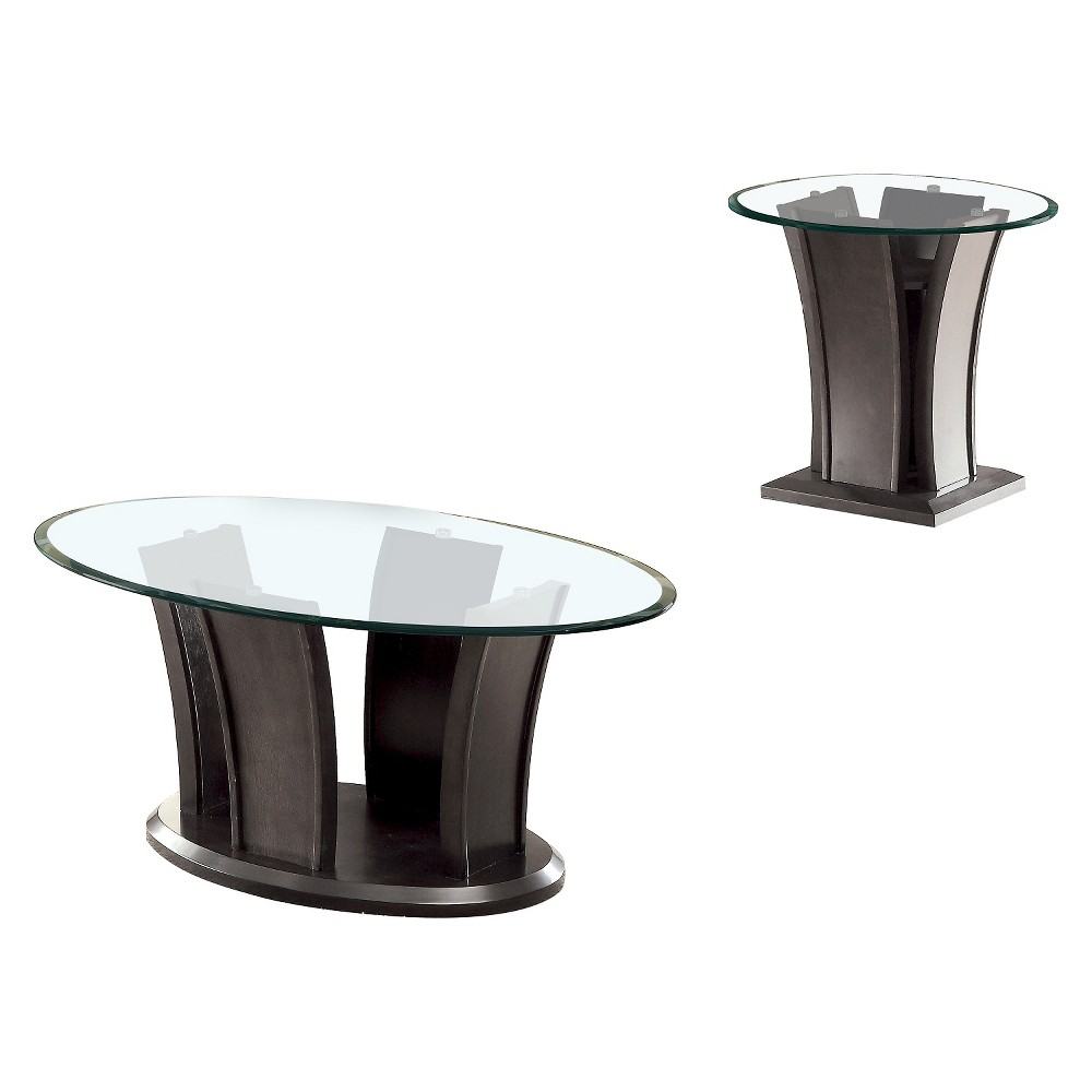 Image of 2pc Gabriella Occasional Table Set Gray - ioHOMES