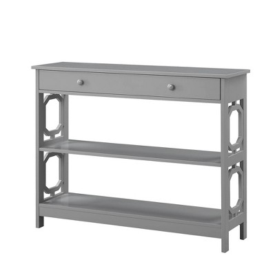 Omega 1 Drawer Console Table Gray - Breighton Home
