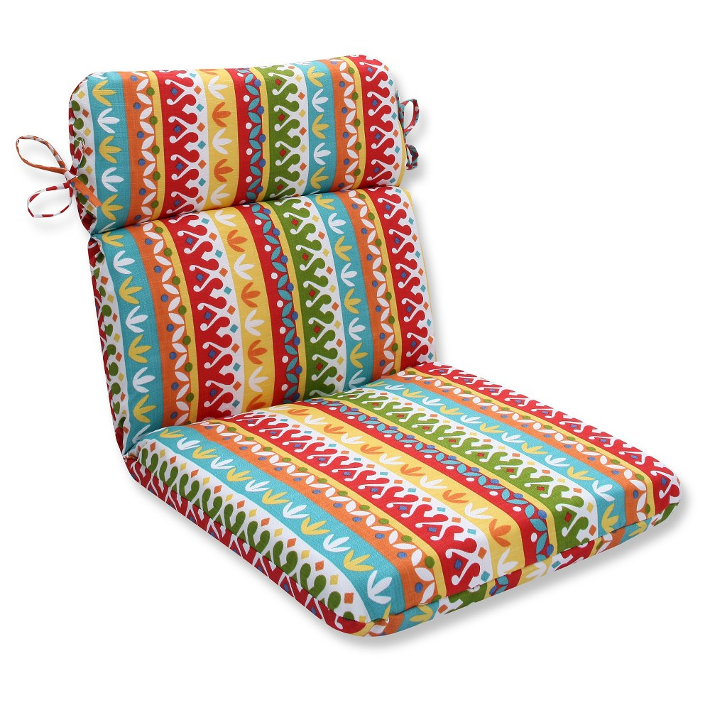 Pillow Perfect Outdoor One Piece Seat And Back Cushion - Multicolored